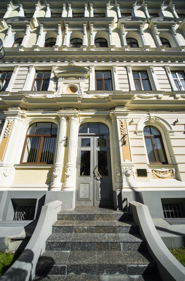 Фасад здания Nouveau искусства стоковое фото rf