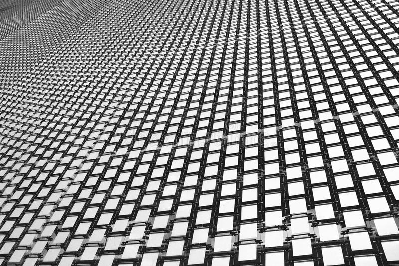Фасад металла в архитектуре стоковое фото