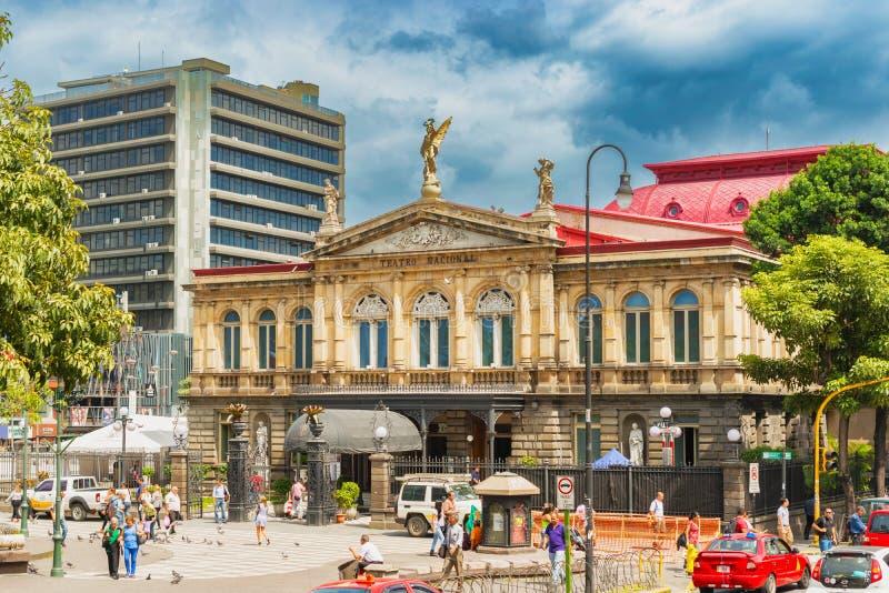 Фасад национального театра Коста-Рика в центре Sa стоковое фото rf