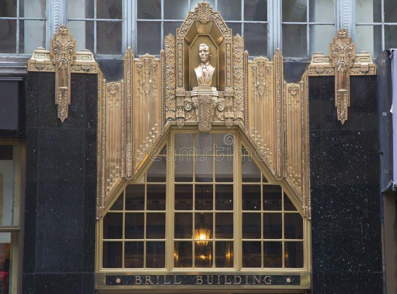 Фасад на здании Брилла в Манхаттане стоковое фото