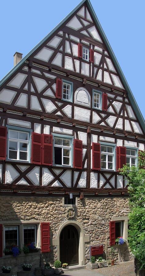 Фасад дома в Marbach стоковое фото rf