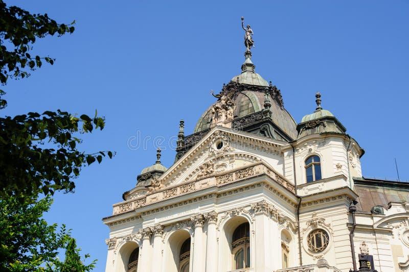 Фасад театра положения Kosice Нео-барочный стоковые изображения