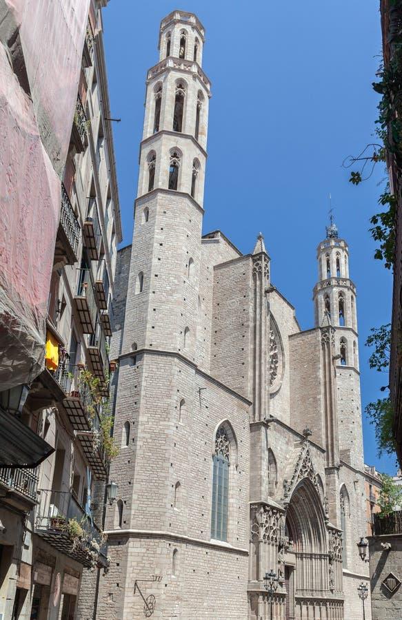 Santa Maria Del Mar Барселона стоковые фото