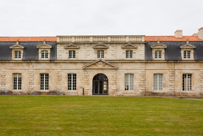 Фасад Corderie Royale в Rochefort стоковые изображения