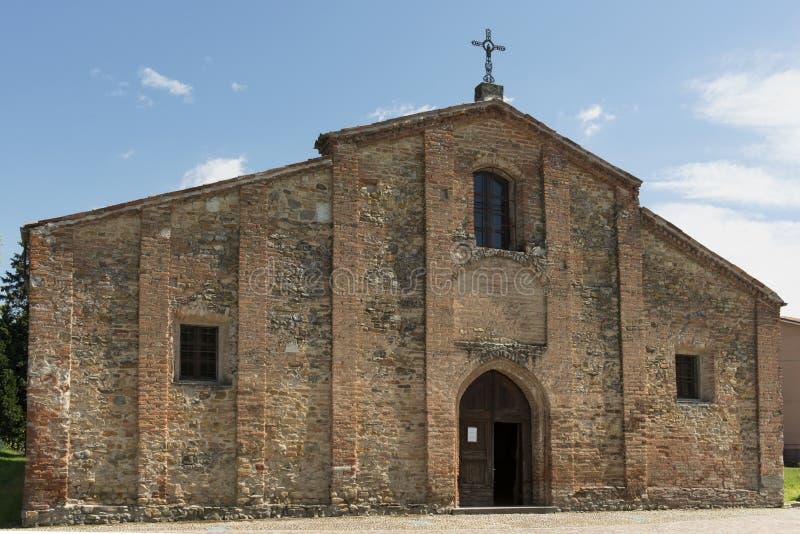 Фасад Pieve, Volpedo, Италия стоковые фотографии rf