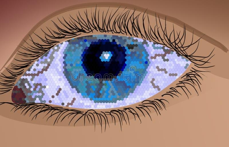 фасетка глаза иллюстрация вектора
