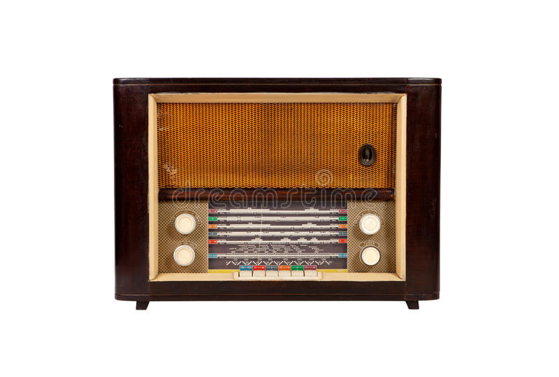 фасонируемое старое радио деревянное стоковое фото rf