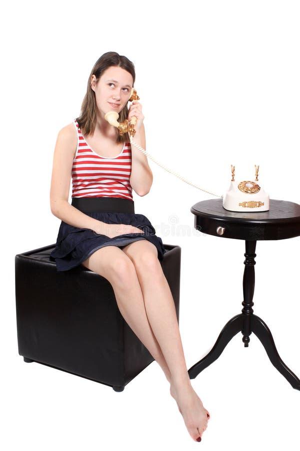 фасонируемый старый говорить телефона предназначенный для подростков стоковые фотографии rf
