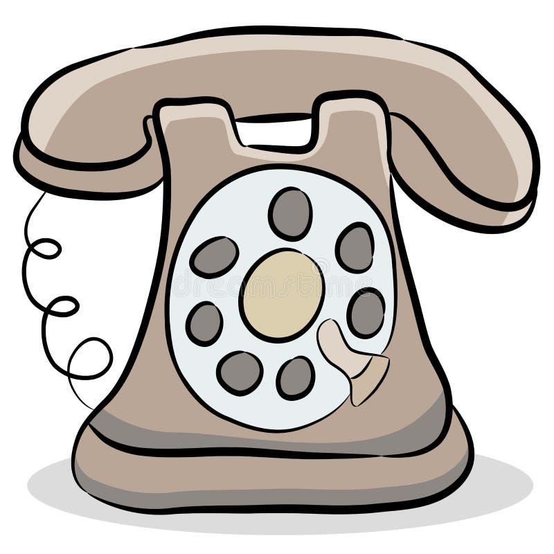 фасонируемый старый телефон иллюстрация вектора