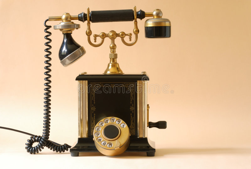 фасонируемый старый телефон стоковое фото rf