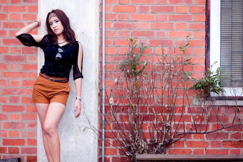 Фасонируйте девушку азиата портрета стоковые фото