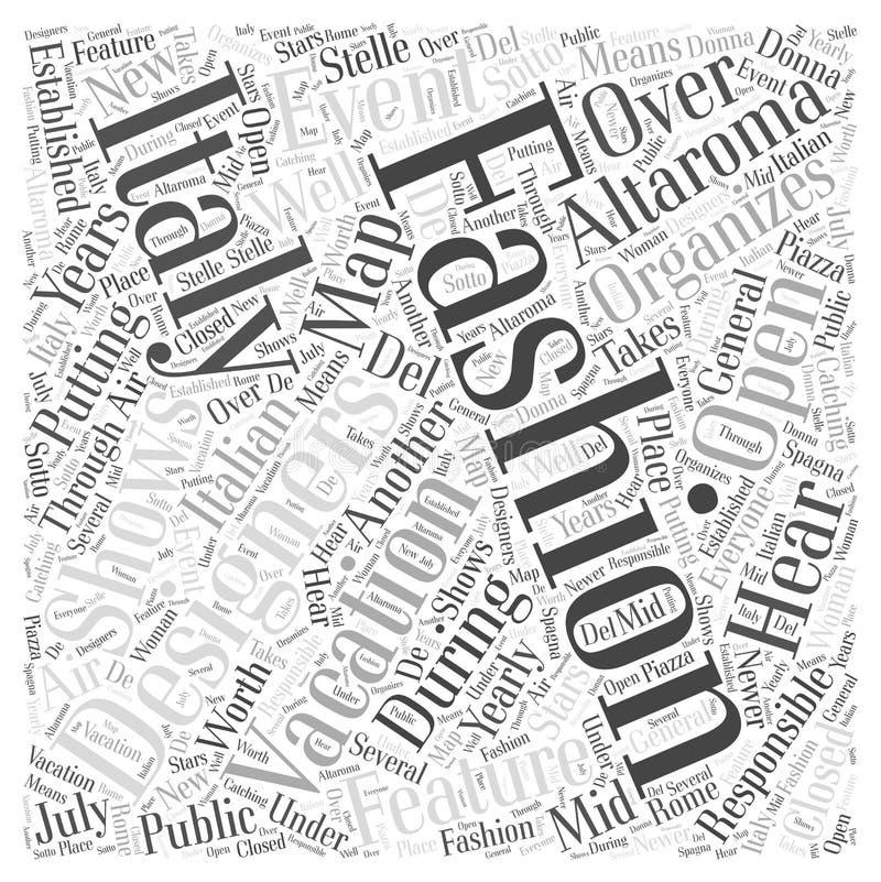 Фасонируйте и ваша предпосылка концепции облака слова концепции облака слова каникул Италии бесплатная иллюстрация
