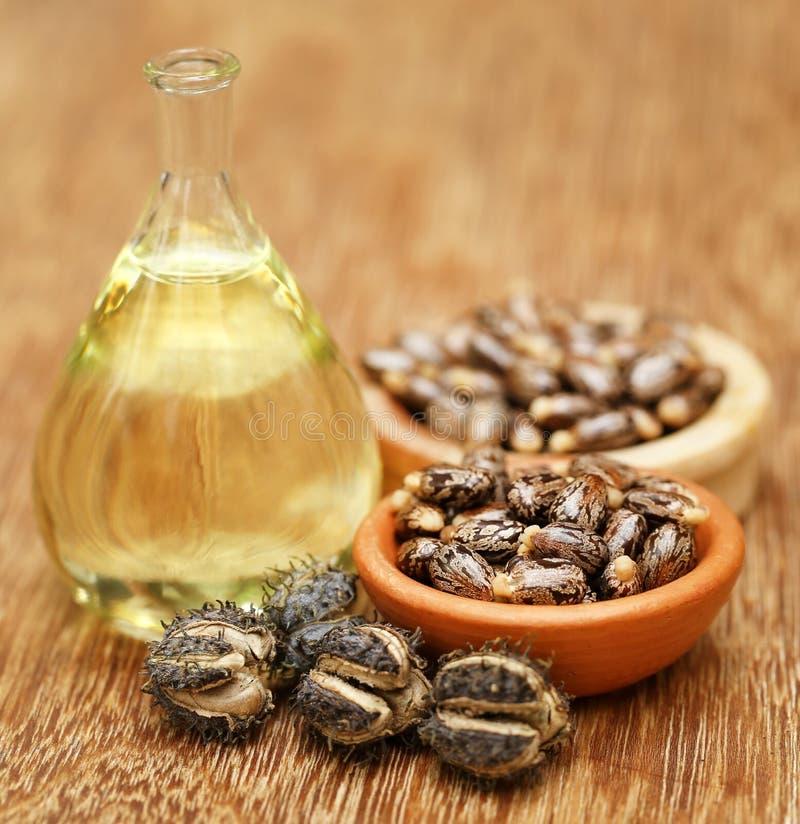 Фасоли и масло рицинуса стоковые фотографии rf