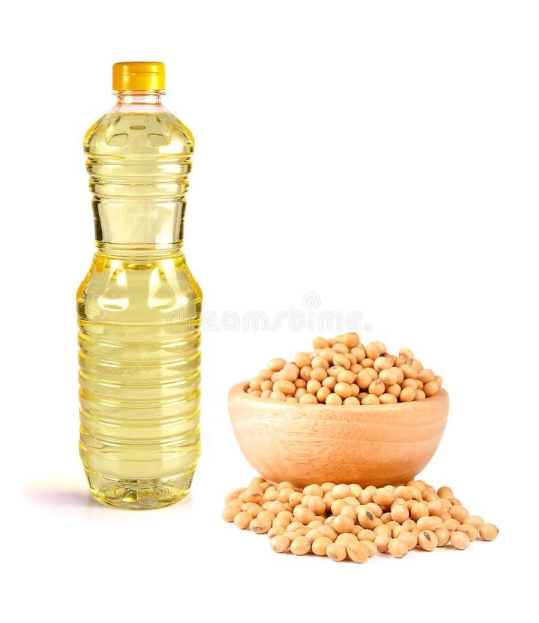 Фасоли масла на белой предпосылке стоковое изображение rf