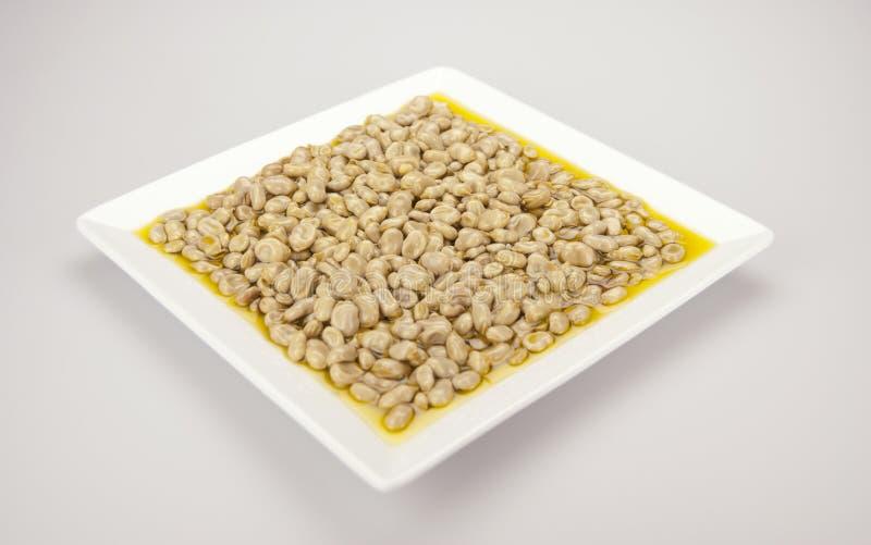 Фасоли с оливковым маслом стоковая фотография rf