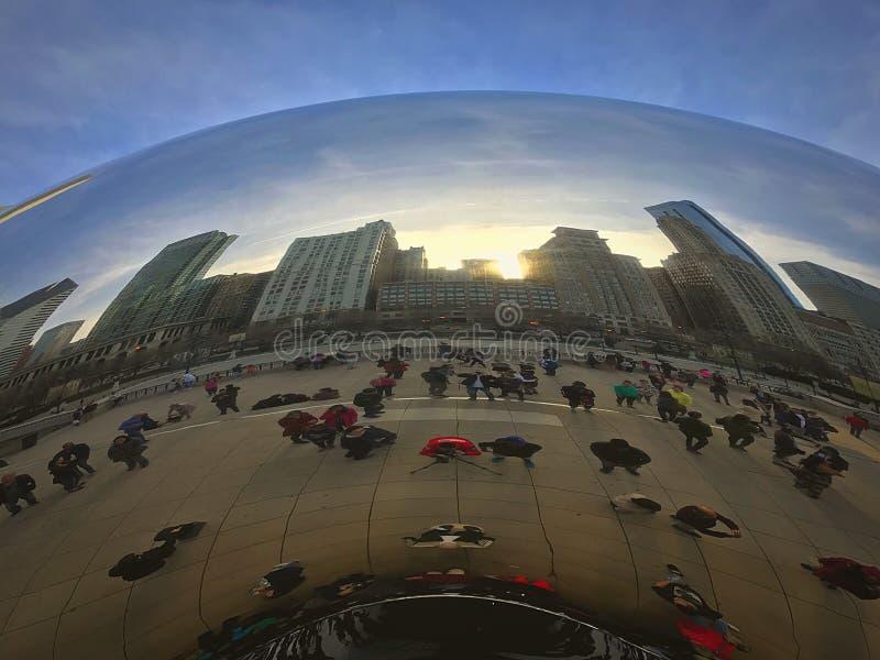 Фасоль парка тысячелетия стоковая фотография