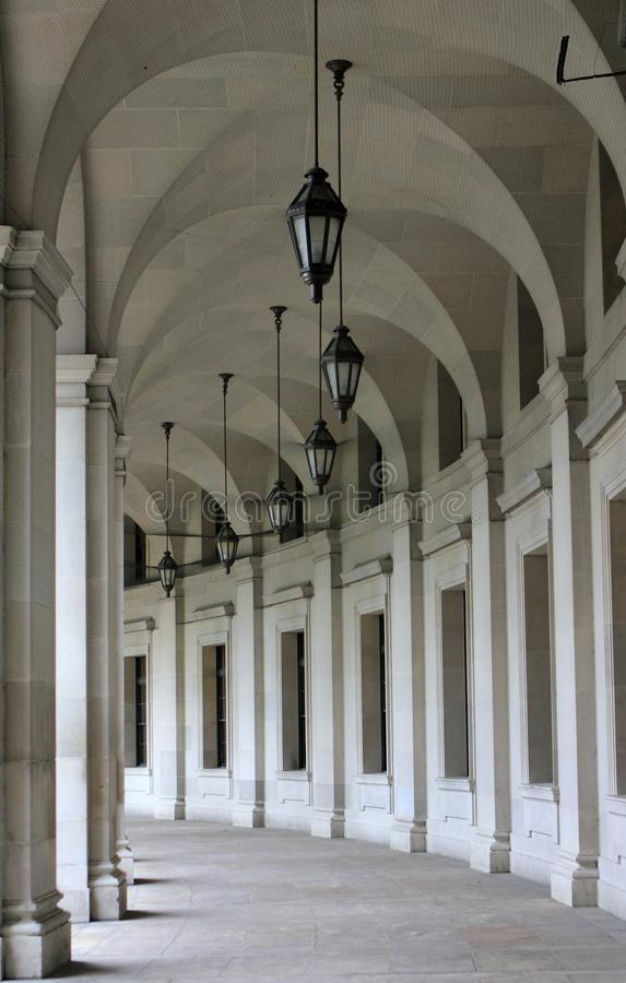 Федеральная зала аркы треугольника в Вашингтоне, DC стоковое изображение