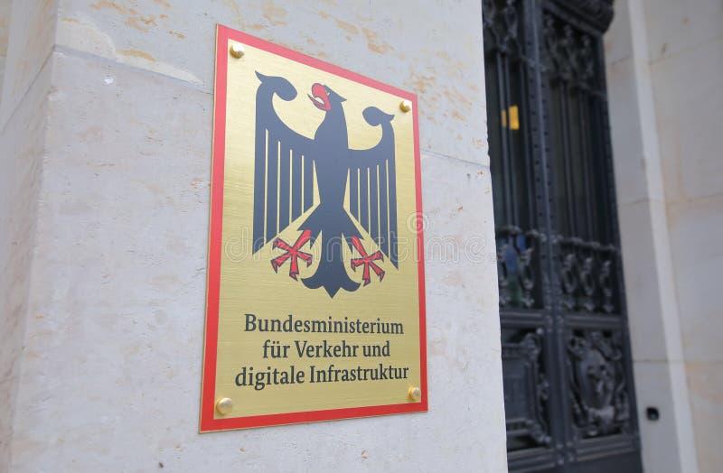 Федеральное министерство транспорта и цифровой инфраструктуры Берлин, Германия стоковое фото