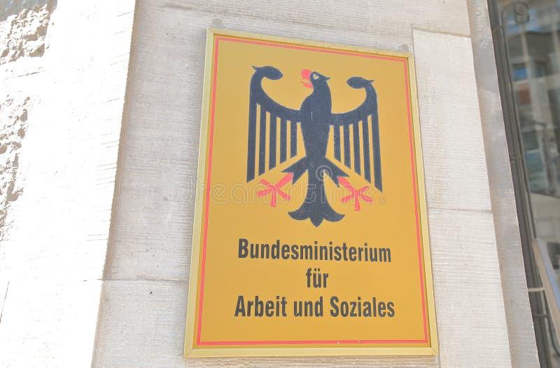 Федеральное министерство труда и социальных дел Берлин, Германия стоковые изображения rf