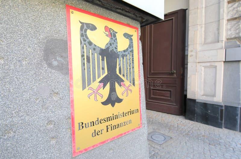 Федеральное министерство финансов Берлина стоковое изображение