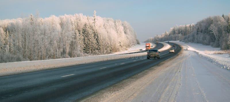 Федеральное шоссе Москва-Kholmogory стоковые изображения
