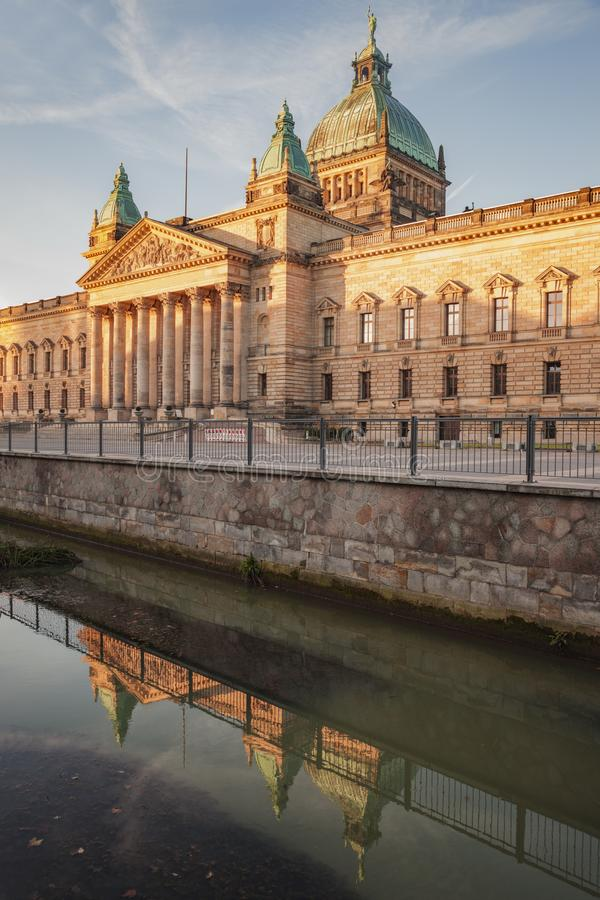 Федеральный административный суд в Лейпциге стоковое фото rf