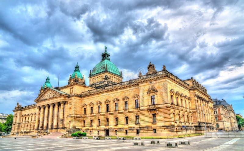 Федеральный административный суд Германии в Лейпциге стоковое изображение rf