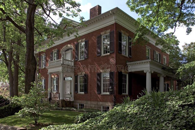 федеральный тип дома стоковое изображение rf
