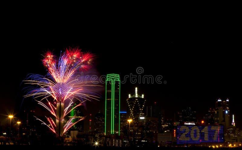 феиэрверки texas dallas стоковое фото