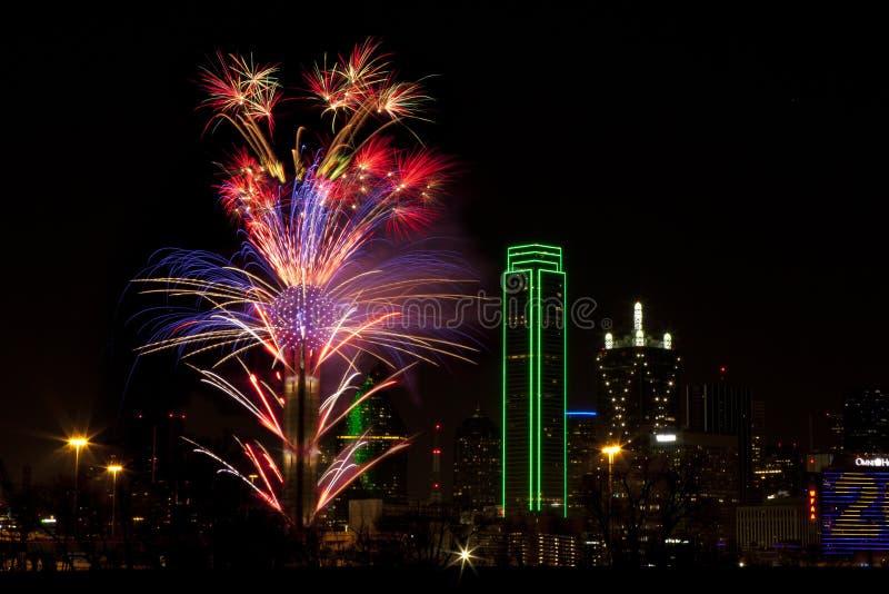 феиэрверки texas dallas стоковое изображение rf