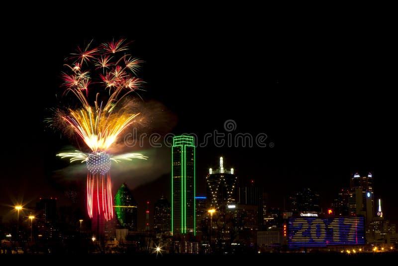 феиэрверки texas dallas стоковые фотографии rf
