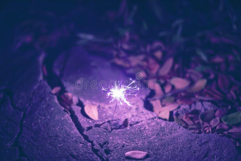 Фейерверки бенгальских огней стоковое изображение