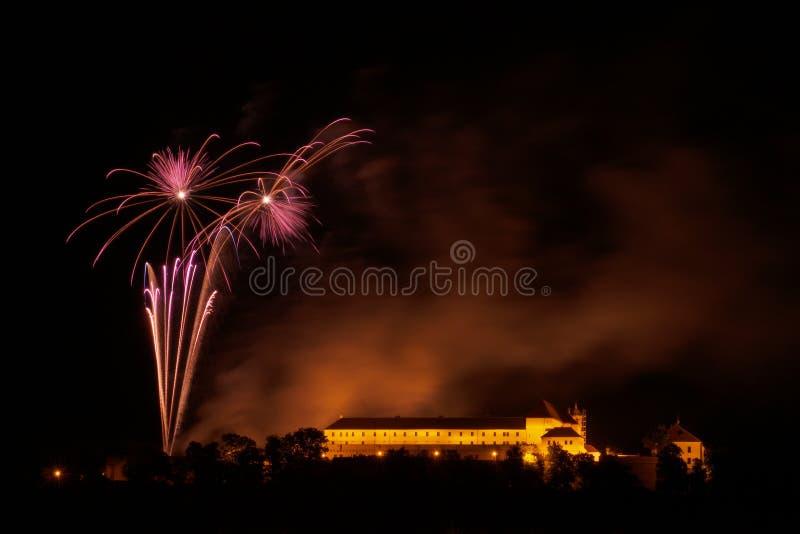Фейерверки в Брне - Ignis Brunensis стоковые фотографии rf