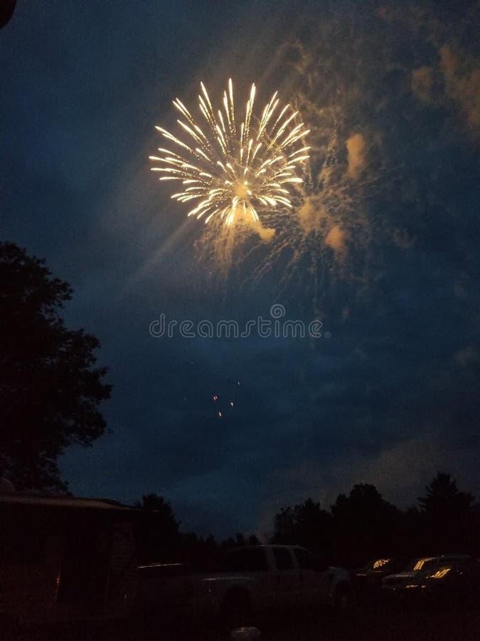 Фейерверки лета стоковые изображения rf