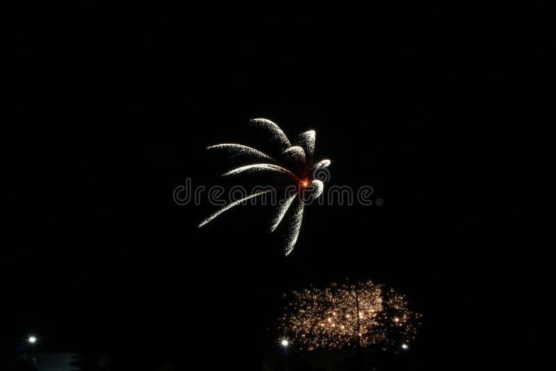 Фейерверки на день Канады в Stittsville 22 стоковое фото rf