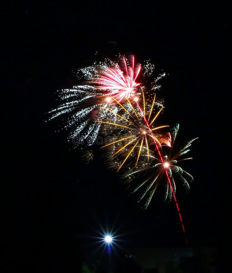 Фейерверки на день Канады в Stittsville 20 стоковое фото rf