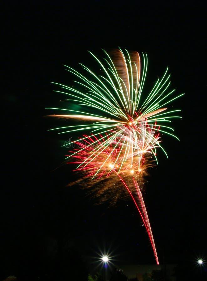 Фейерверки на день Канады в Stittsville 15 стоковое изображение