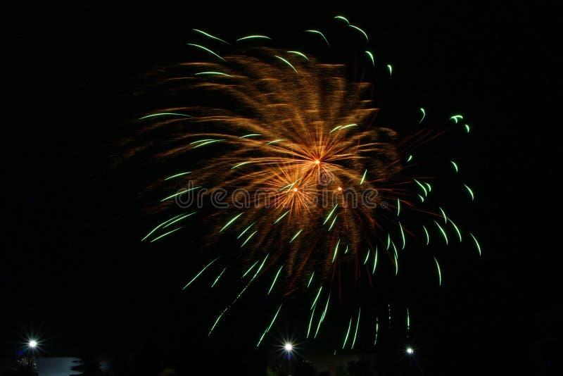 Фейерверки на день Канады в Stittsville 5 стоковая фотография