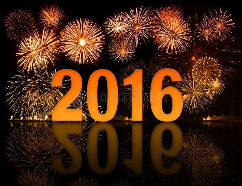 фейерверки 2016 Новых Годов стоковые изображения