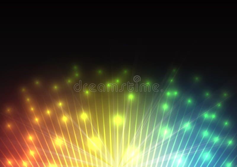 Фейерверки торжества салюта Предпосылка вектора иллюстрация штока