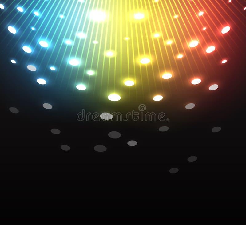 Фейерверки торжества салюта с звездами иллюстрация штока