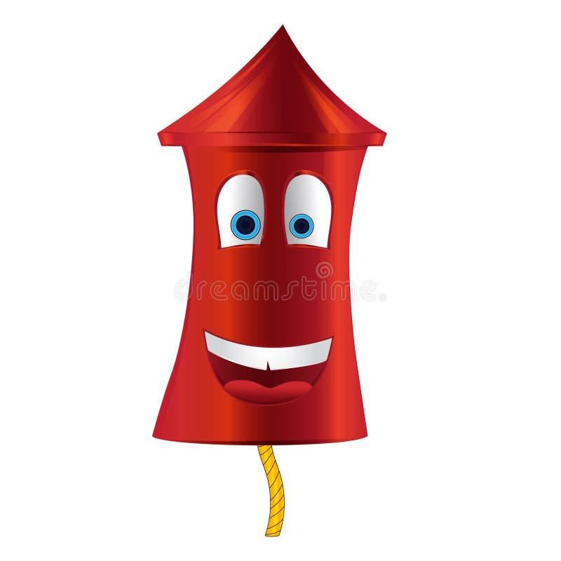 Фейерверки шаржа красные бесплатная иллюстрация