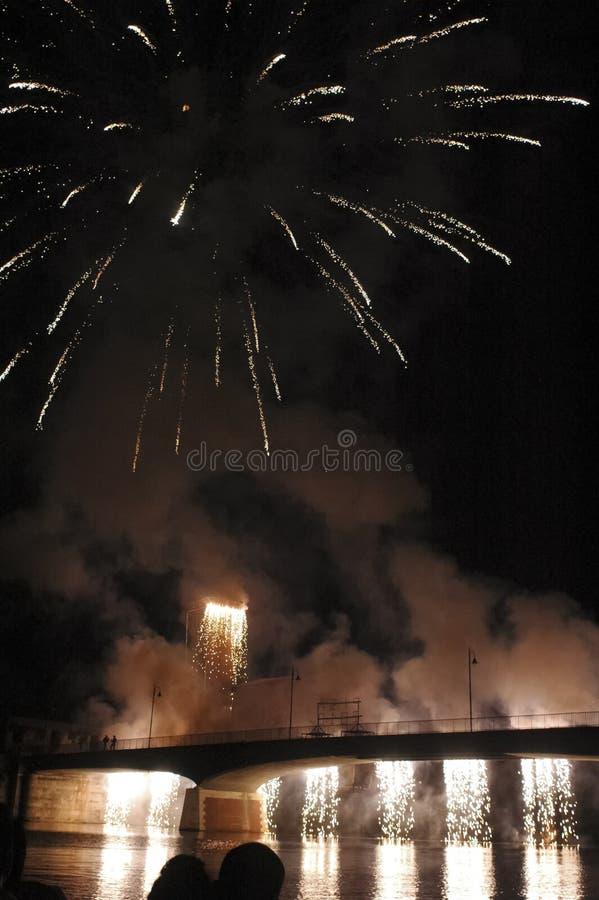 Фейерверки для торжеств Сан Ranieri стоковая фотография
