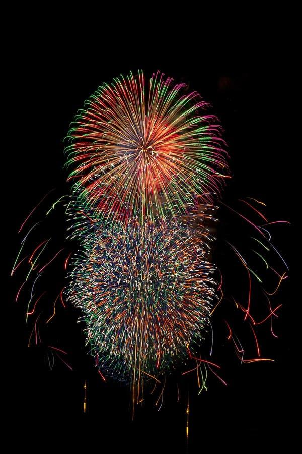 Фейерверк в Японии стоковое изображение