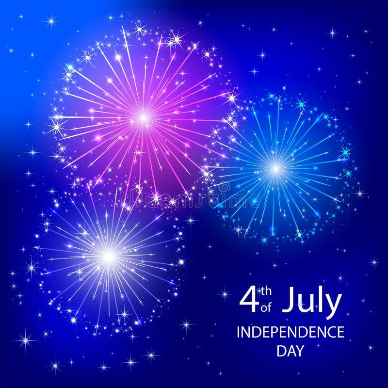 Download Фейерверк Дня независимости Иллюстрация вектора - иллюстрации насчитывающей дата, феиэрверк: 41661286
