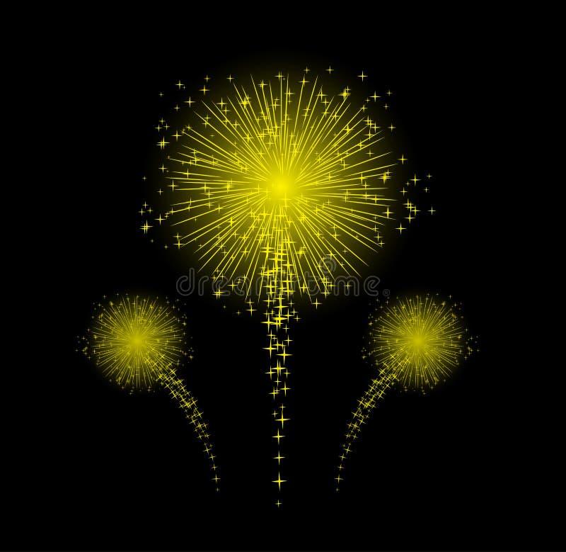 Фейерверк для счастливого дизайна Нового Года стоковое изображение