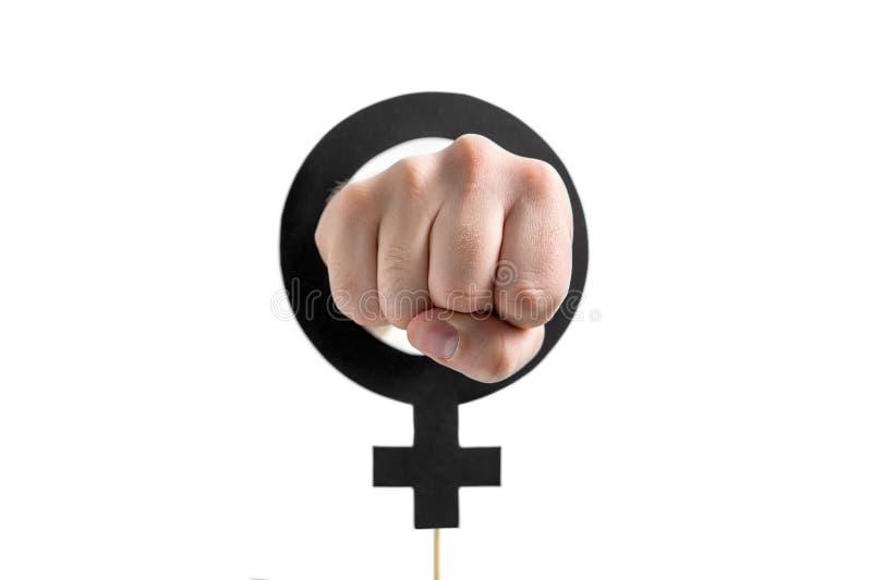 Феминизм, сила девушки или концепция равенства полов стоковая фотография