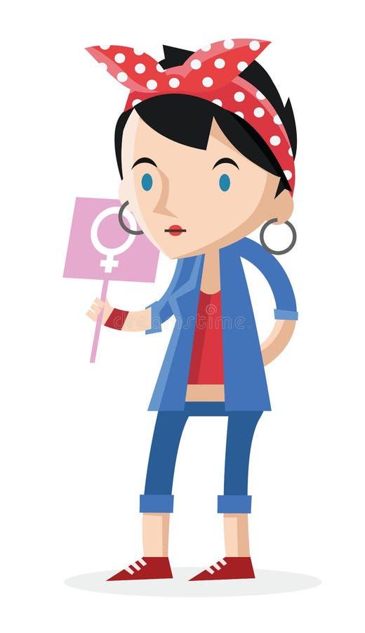 Феминист женщина иллюстрация штока