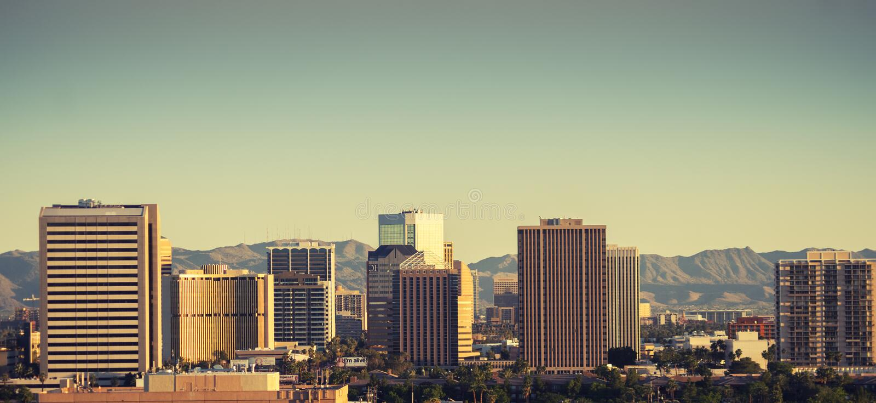 Феникс, AZ 4 18 2016 столица, и самый большой город, u S Положение Аризоны стоковые фото