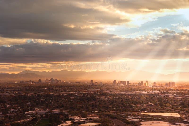 Феникс, Az, США; Вид с воздуха стоковое изображение rf